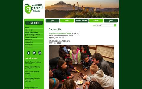 Screenshot of Contact Page wagreenschools.org - Contact Us | Washington Green Schools - captured Oct. 27, 2014