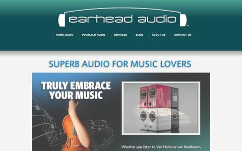 Screenshot of Home Page ear-head.com - EarHead Audio - captured Jan. 24, 2016