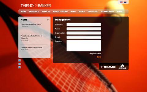 Screenshot of Team Page thiemodebakker.com - Management - Thiemo de Bakker - captured Dec. 2, 2018