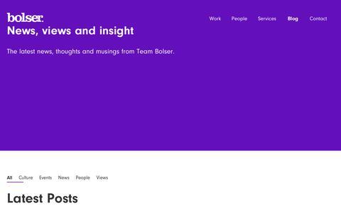 Screenshot of Blog bolser.co.uk - Blog | Bolser.co.uk - captured Aug. 3, 2018