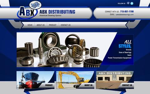 Screenshot of Site Map Page abxbearings.com - Ball And Roller Bearing | Ball Bearing Rollers | Spherical Bearings | :: Welcome To ABX Distributing American Bearing  :: - captured Nov. 2, 2014