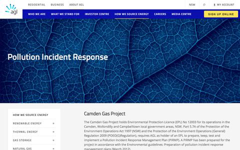 Pollution Incident Response | AGL