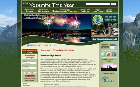 Screenshot of Signup Page yosemitethisyear.com - Become a Tourism Partner | Yosemite This Year - captured Oct. 7, 2014
