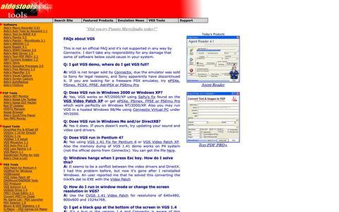 Screenshot of FAQ Page aldostools.org - www.aldostools.org by Aldo Vargas - captured Nov. 6, 2018