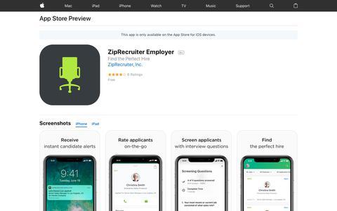 ZipRecruiter Employer on the AppStore