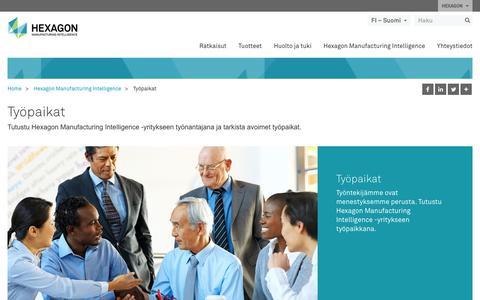 Screenshot of Jobs Page hexagonmi.com - Työpaikat | Hexagon Manufacturing Intelligence - captured Oct. 21, 2018