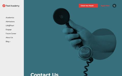 Screenshot of Contact Page pearlacademy.com - Contact Us - Pearl Academy - captured Aug. 12, 2019