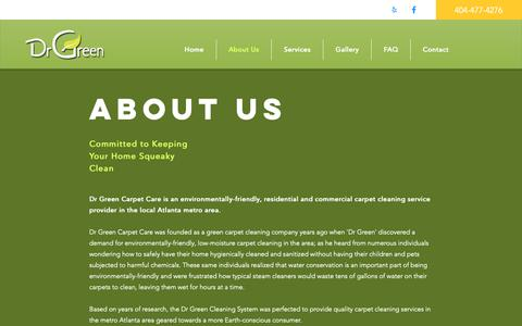 Screenshot of About Page drgreencarpet.com - About Us | Dr Green Carpet Care - captured Feb. 28, 2019