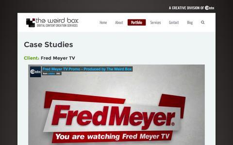 Screenshot of Case Studies Page theweirdbox.com - The Weird Box: Digital Creative Media Case Studies - The Weird Box: Digital Creative Media - captured Oct. 27, 2014