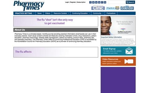 Screenshot of About Page pharmacytimes.com - About Us | Pharmacy Times - captured Dec. 8, 2015