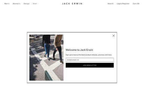 Screenshot of Home Page jackerwin.com - Clean Design for Complex Lives – Jack Erwin - captured Oct. 19, 2019