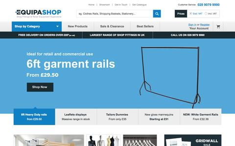 Screenshot of Home Page equipashop.com - Shop Fittings   Great Prices & Free Delivery: Equipashop - captured June 17, 2015