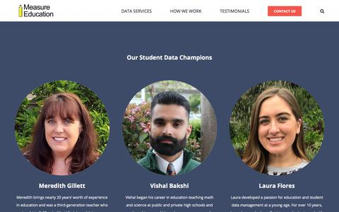 Screenshot of Team Page measureed.com - Meet Our Team - Measure Education - captured Aug. 19, 2019