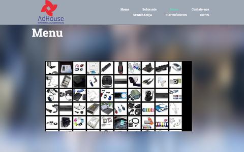 Screenshot of Menu Page adhouse.com.br - Menu - captured Oct. 6, 2017