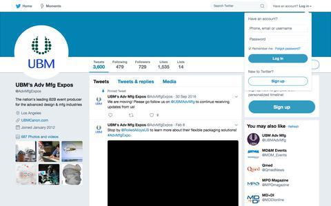 UBM's Adv Mfg Expos (@AdvMfgExpos) | Twitter