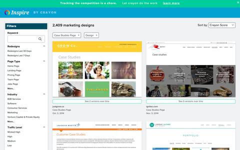 Screenshot of Case Studies Page crayon.co - Design Case Studies Pages | Website Inspiration and Examples | Crayon - captured April 25, 2019