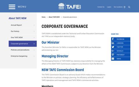 Corporate governance - TAFE