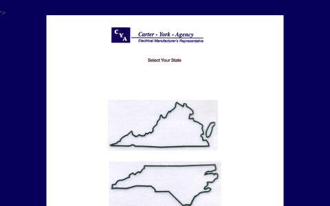 Screenshot of Home Page carteryork.com - Carter York Agency - Home - captured Oct. 2, 2014