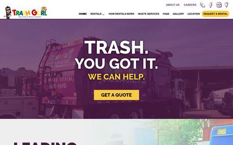 Screenshot of Home Page trashgurl.com - Home - Trash Gurl - captured Oct. 20, 2018