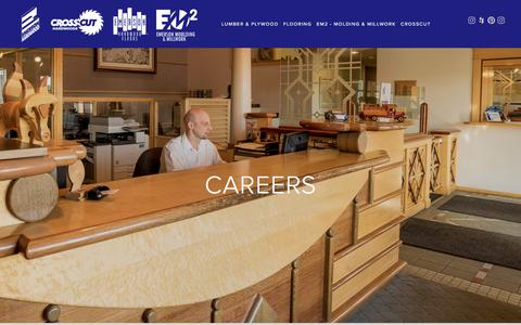 Screenshot of Jobs Page emersonhardwood.com - CAREERS — Emerson Hardwood Group - captured Aug. 11, 2018