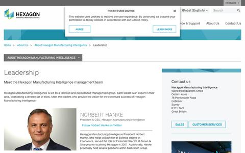 Screenshot of Team Page hexagonmi.com - Leadership | Hexagon Manufacturing Intelligence - captured July 12, 2018