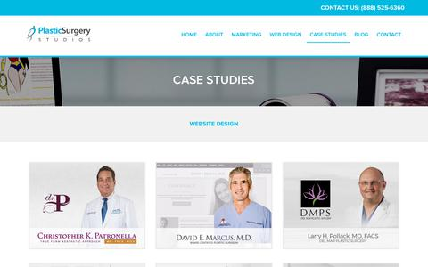 Screenshot of Case Studies Page plasticsurgerystudios.com - Plastic Surgery Studios | Case Studies - captured March 16, 2018