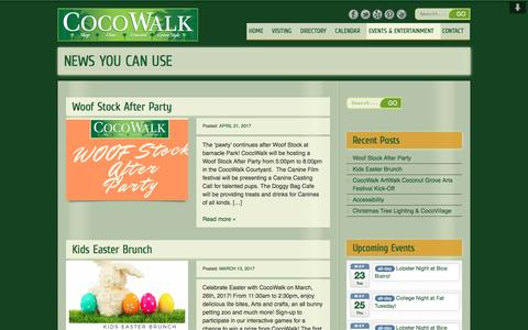 Screenshot of Press Page cocowalk.net - NEWS YOU CAN USE | CocoWalk - captured May 19, 2017