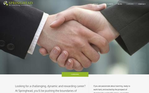 Screenshot of Jobs Page springheadconsulting.com - Careers | Springhead Consulting - captured Oct. 6, 2014