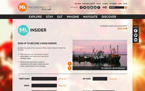 Screenshot of Signup Page massvacation.com - Sign Up - captured Nov. 2, 2014