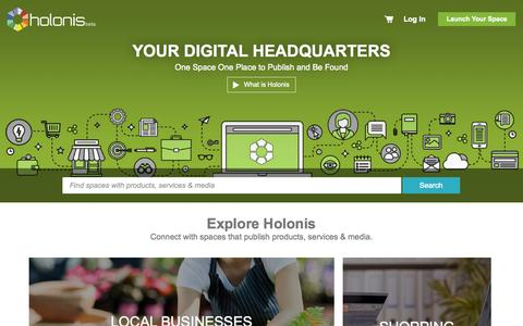 Screenshot of Home Page holonis.com - Holonis | The Smarter Marketplace | Built for Commerce on The Web - captured July 24, 2015