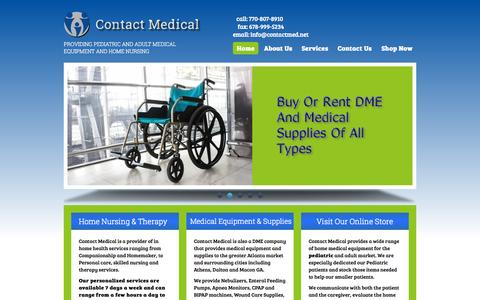 Screenshot of Home Page contactmed.net - Contact Medical | Providing Pediatric and Adult Medical Equipment and Home Nursing - captured Sept. 18, 2015