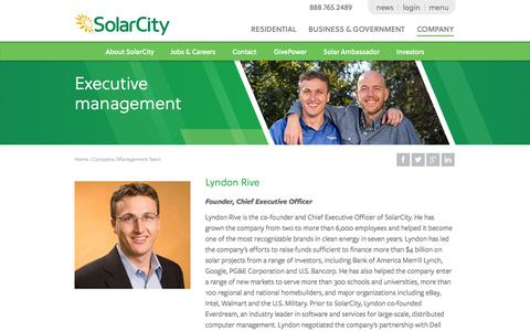 Screenshot of Team Page solarcity.com - SolarCity Executive Management Team | SolarCity - captured Oct. 10, 2014