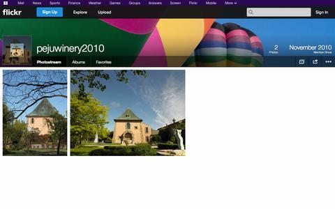 Screenshot of Flickr Page flickr.com - Flickr: pejuwinery2010's Photostream - captured Oct. 22, 2014