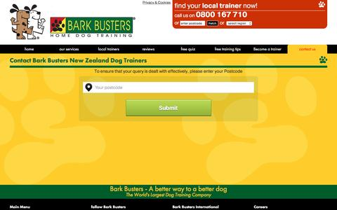 Screenshot of Contact Page barkbusters.co.nz - Contact us - Bark Busters Home Dog Training. - captured March 30, 2016