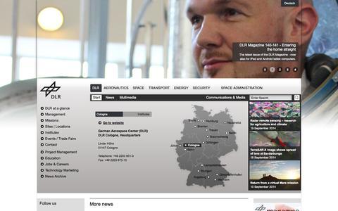 Screenshot of Maps & Directions Page dlr.de - DLR Portal - DLR - captured Sept. 23, 2014