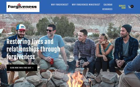 Screenshot of Home Page forgivenessministries.com - Forgiveness Ministries - captured Oct. 24, 2018
