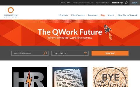 Screenshot of Blog quantumworkplace.com - The QWork Future | A Future of Work Blog from Quantum Workplace - captured March 29, 2016