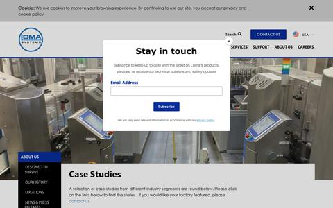 Screenshot of Case Studies Page loma.com - Loma Systems | Case Studies - captured Sept. 29, 2018