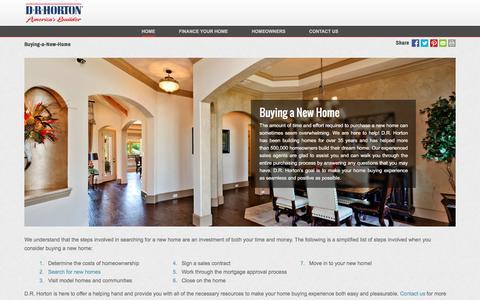 Screenshot of drhorton.com - Buying a New Home | D.R. Horton - captured Dec. 9, 2016