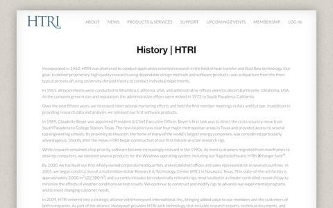 History | HTRI | HTRI