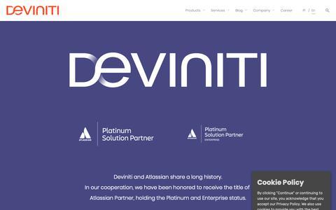 Screenshot of Services Page deviniti.com - Atlassian | Deviniti - Technology-Driven Results - captured Oct. 11, 2018