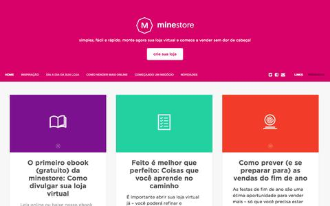 Screenshot of Blog minestore.com.br - blog minestore - captured Nov. 5, 2014