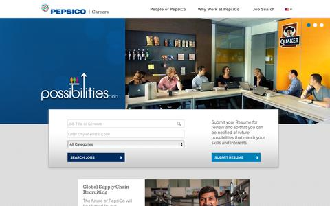 Screenshot of Jobs Page pepsicojobs.com - Career Possibilities... - captured Oct. 26, 2015