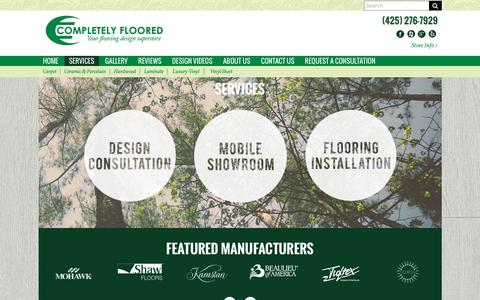 Screenshot of Services Page completelyfloored.com - Flooring Service Experts-Everett, WA - Completely Floored - captured March 5, 2016