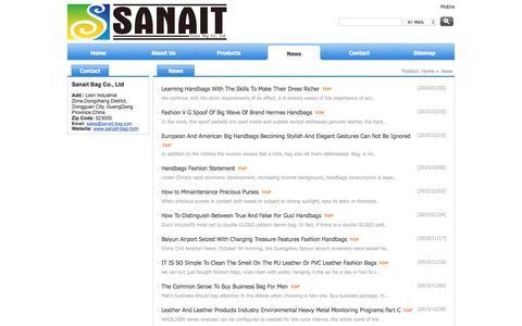 Screenshot of Press Page sanait-bag.com - News of Sanait Bag Co.,Ltd - captured March 8, 2016