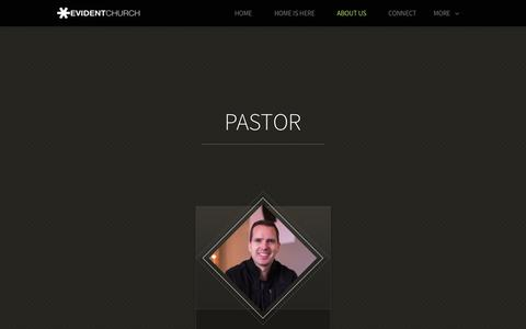 Screenshot of Team Page evidentchurch.com - Evident Church | Team - captured Nov. 5, 2018