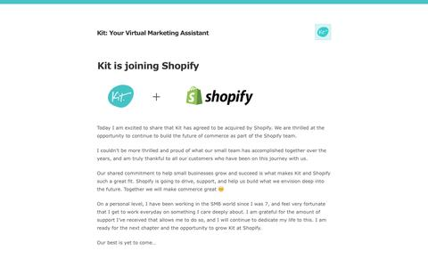 Kit: Your Virtual Marketing Assistant