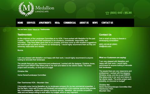 Screenshot of Testimonials Page mlmi.com - Testimonials - captured Oct. 4, 2014