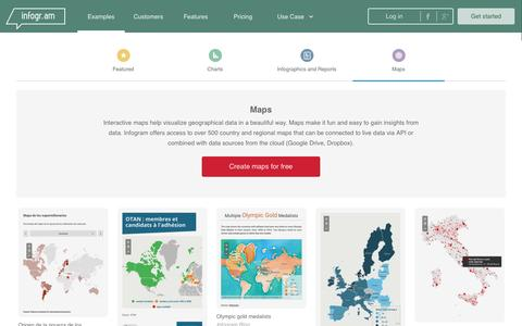 Screenshot of Maps & Directions Page infogr.am - Create Maps   Infogr.am - captured Jan. 15, 2017