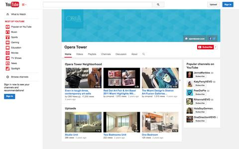 Screenshot of YouTube Page youtube.com - Opera Tower  - YouTube - captured Oct. 31, 2014